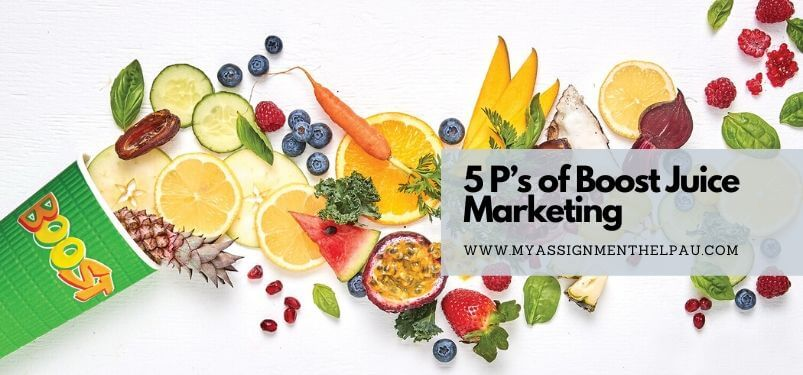 5 P's of Boost Juice Marketing